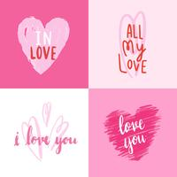 Collection de typographies de la Saint-Valentin
