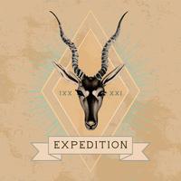 Expedition travel logo design vettoriale