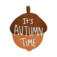 It's autumn time acorn illustration