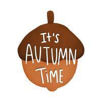 È illustrazione della ghianda di tempo di autunno