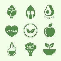 Raccolta di vettori di icone vegane