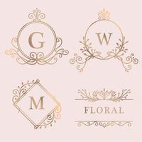 Goudkleurige logo-collectie