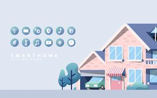 Smart home vector pack with icons