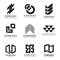 Set of company logo design ideas vector