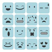 Sats av emoji känner uttryck