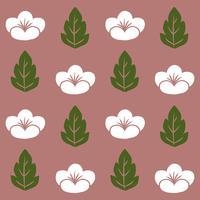 Vector de patrón floral transparente