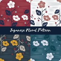Vector of seamless Japanese style floral pattern