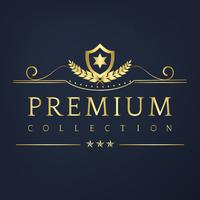 Vecteur de design badge collection Premium