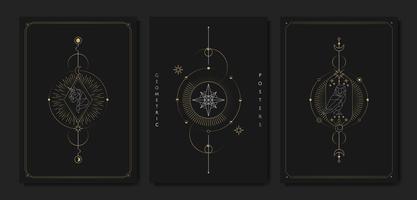 Geometric astrological symbols tarot card