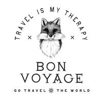 Gute Reise Logo Design Vektor