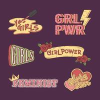 Samling av tjejkraftvektorer