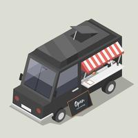 Vektor av food truck service icon