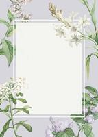 Decorated floral frame