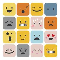 Conjunto de expressão de sentimento de emoji