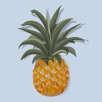 Illustration vectorielle de fruits tropicaux ananas frais