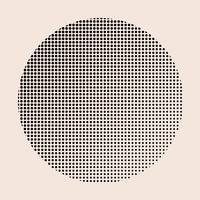 Black vintage halftone badge on beige background vector