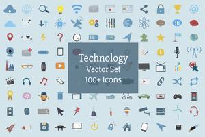 Illustration uppsättning teknik ikoner vektor