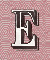 Capital letter E vintage typography style