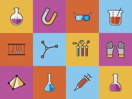 Raccolta di vettori di chimica