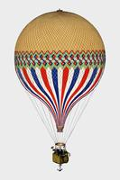 The Tricolor with a French flag themed balloon ascension in Paris, June 6th 1874. Original from Library of Congress. Digitally enhanced by rawpixel.