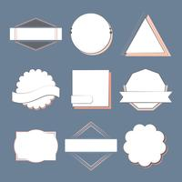 Set of badges and emblems vector