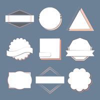 Conjunto de emblemas e emblemas vector
