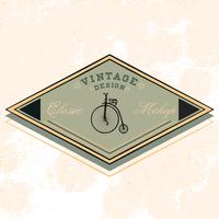 Vector de diseño de logotipo de maqueta clásica