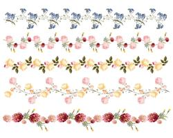 Hand drawn colorful floral pattern