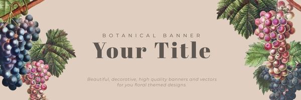 Banner enmarcado floral