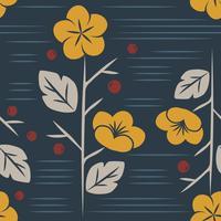 Vecteur de motif floral sans soudure