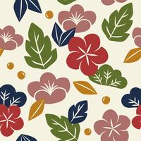 Vector of seamless floral pattern