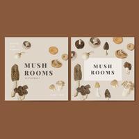 Mushroom poster set