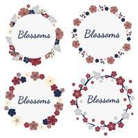 Set di fiori colorati