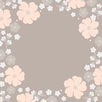 Marco de flores pastel japonés
