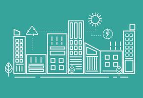 Illustratie van een duurzame stad