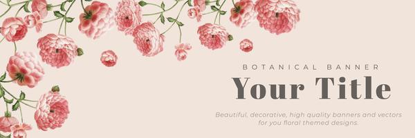 Banner emoldurado floral