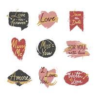 Dulce romántico conjunto de mensajes de San Valentín