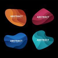 Abstrakt emblemsdesign vektor uppsättning