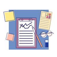 Büroausstattung Vektor