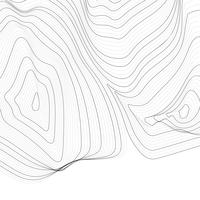 Illustration de la ligne de contour abstrait monochrome