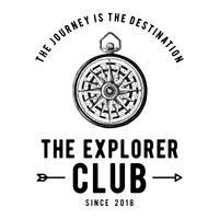 El vector de diseño del logotipo del club explorer