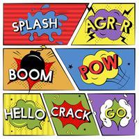 Expresiones de palabras de estilo cómico