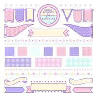 Elementos de diseño lindo y femenino para bloggers vector