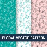 Conjunto de padrões florais vetoriais