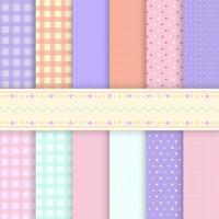 Bakgrundsvektorer av blandat mönster pastell