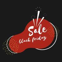 Vector de venta viernes negro insignia