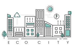 Vettore città eco-friendly