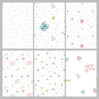 Set of colorful polka dot pattern vectors