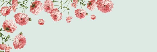 Banner con cornice floreale