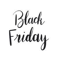 Black Friday-typografiestijlvector